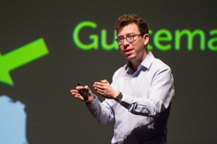 """2018 University of Arizona College of Science Lecture Series featuring Luis von Ahn, Professor of Computer Science at Carnegie Mellon University presenting """"What Humans Can Do that Machines Cannot"""" (photo:Bob Demers/UANews)"""