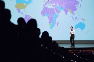 "2018 University of Arizona College of Science Lecture Series featuring Luis von Ahn, Professor of Computer Science at Carnegie Mellon University presenting ""What Humans Can Do that Machines Cannot"" (photo:Bob Demers/UANews)"