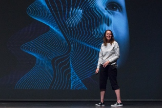 """2018 University of Arizona College of Science Lecture Series featuring Jane Bambauer, Professor of Law at the University of Arizona James E. Rogers College of Law, presenting """"Machine Influencers and Decision Makers"""" (photo:Bob Demers/UANews)"""