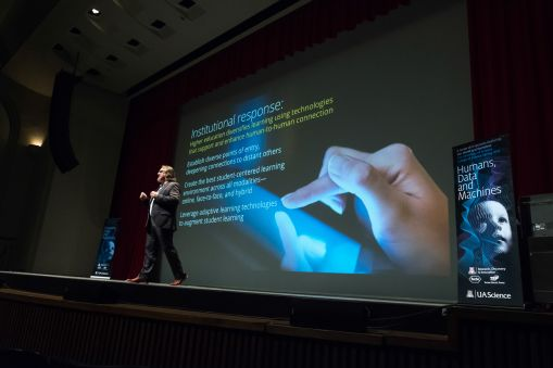 "Vincent J. Del Casino Jr. Vice President, Academic Initiatives and Student Success, Professor, School of Geography and Development, presenting ""There Is No Such Thing as Big Data"" at the UA 2018 College of Science Lecture Series."