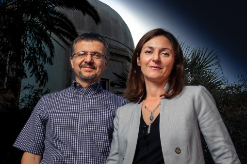 Dimitrios Psaltis, left, and Feryal Ozel are theoretical astrophysicists and professors of astronomy and physics at the University of Arizona. This husband and wife team focuses on the physics of neutron stars and black holes.